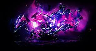 blue bright dark glass pink purple