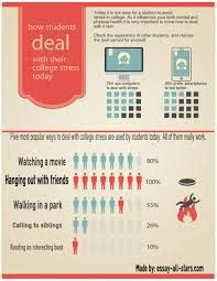 how students deal college stress ly how students deal college stress infographic