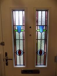 internal view of composite door with stained glass internal view of composite door with stained glass
