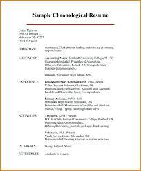 chronological order resume chronological order resume chronological resume  written in reverse chronological order