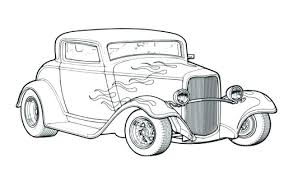 old truck coloring pages car or classic hot rod page printable muscle fire preschoolers