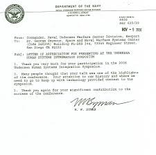 Gallery Of Sample Navy Letter Of Appreciation Letter Of Appreciation
