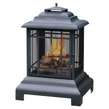 metal wood burning outdoor fireplace