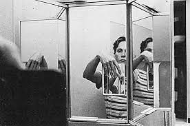 """Karin Mack: Self-Portrait, from the series """"In entering other rooms,"""" 1981  (from: Karin Mack self portrait photographs from 1975 to 1985)"""