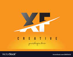 xf x f letter modern logo design with