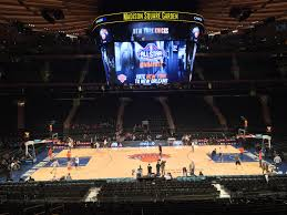 madison square garden the new york knicks warming up before the game