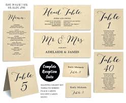 Wedding Table Cards Template Table Seating Cards Wedding Table