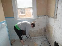 how to take old tile off bathroom wall thedancingpa com drywall backsplash removal