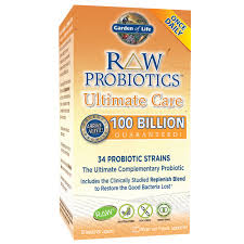 com garden of life raw probiotics ultimate care acidophilus and bifidobacteria live culture probiotic gluten soy and gmo free 30