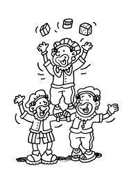 Zwarte Pieten In Het Circus Sinterklaas Kleurplaten Kleurplaatcom