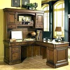 desk hutch white wood office desks with l shaped walnut hut