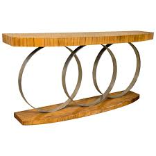 art deco era furniture. Art Deco Style Console Table Mid Century Modern Heavy Three Chrome Loops For Sale Era Furniture