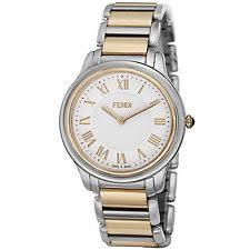 fendi wristwatches fendi men s classico white dial two tone bracelet quartz watch f251114000