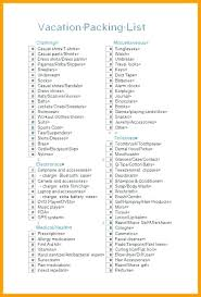 Zoom Vacation Checklist Template Rental Packing List Travel ...