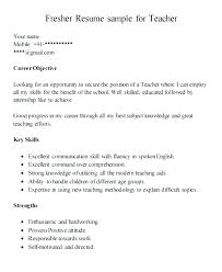 teacher job resumes resume sample for fresher teacher for resume format fresher teaching