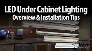 LED under cabinet lighting overview & installation tips by Total ...