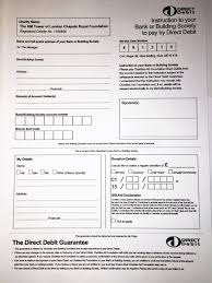 Direct Debit Form Form: Direct Debit Form With Photos. Direct Debit Form