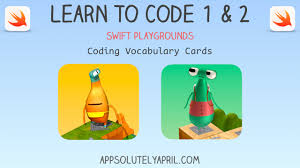vocab cards with pictures swift playgrounds learn to code 1 2 vocab cards appsolutely april