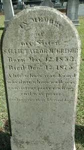 Sallie Taylor McGregor (1853-1875) - Find A Grave Memorial