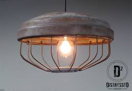 repurposed lighting. Custom Made Repurposed Chicken Feeder Pendant Light, Edison Bulb Included Lighting O