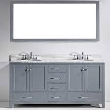 contemporary bathroom vanity cabinets. Virtu USA Caroline Avenue 72-inch White Marble Double Bathroom Vanity Set Contemporary Cabinets M