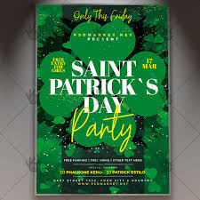 Green Party Flyer Saint Patricks Day Party Flyer Psd Template