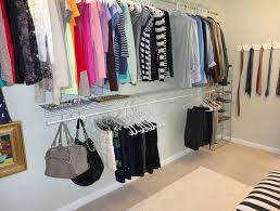 image of how to organize a walk in closet on a budget awesome