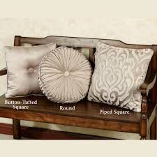 overview luxurious and elegant the polyester astoria scroll decorative pillows by j queen new york