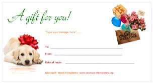 gift certificates format gift voucher format word template microsoft word templates for