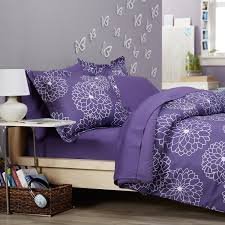 budget wise 7 piece purple and grey gray comforter bedding