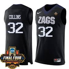 Gonzaga Ncaa Zach Four Basketball Jersey Collins Team Final Black Bulldogs 32 2017