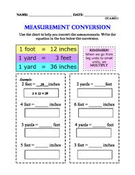 Cc 4 Md 1 Measurement Conversions 3 Levels Differentiated For Special Ed
