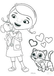 Printable Coloring Pages Doc Mcstuffins Great Free Clipart