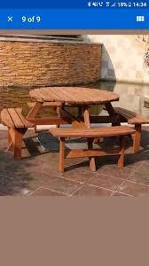 new 8 seater round pub bench 80