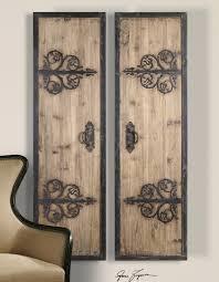 2 xl decorative rustic wood wrought iron wall art panels brilliant rustic metal wall decor brilliant
