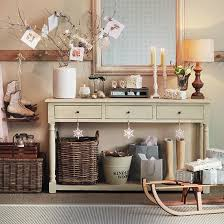 Console Table Christmas Decorations Home Decorating Ideas