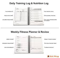 Amazon Com Saltwrap Daily Fitness Planner Gym Workout Log Food