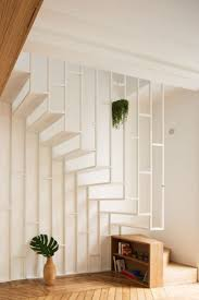house interior steps design. a white metalframed staircase connects the two floors of this parisian apartment house interior steps design o