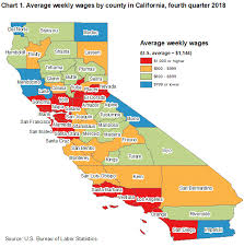 Unemployment Pay In California Chart County Employment And Wages In California Fourth Quarter