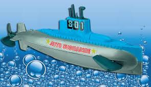 wind up submarine sub water bath tub pool toy automatic dives and resurfaces