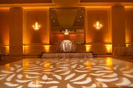 hilton lake las vegas wedding gobo pattern wash wedding uplighting uplights