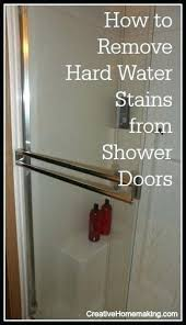 remove water stains from glass how to remove hard water stains from shower doors remove water