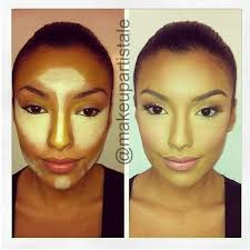 kim k s magic secret to having a beautiful angular face it s all in the contouring under foundation hint the best way to hide bags under the eyes is to