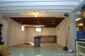 Painted Basement Ceiling Ideas Basement Ceiling Black Paint