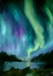 saatchi art artist killian ward painting the northern lights art