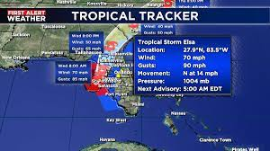 Elsa downgraded to a Tropical Storm in ...