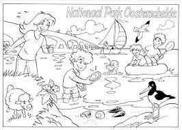 Kleurplaten Nationaal Park Oosterschelde