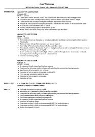 Sample Resume For Experienced Software Tester Sample Resume For 60 Year Experienced Software Tester New Testing 56