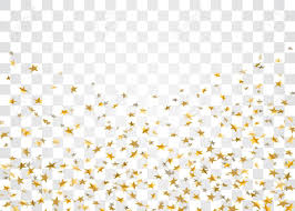 Transparent Pattern Impressive Gold Stars Falling Confetti Isolated On White Transparent Background