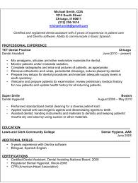 4 free dental assistant resumes resume example resolution certified dental assistant resume